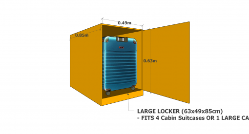 large luggage locker alicante